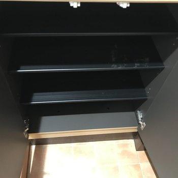 シューズボックスもたくさん入ります。※写真は2階の反転間取り別部屋のものです