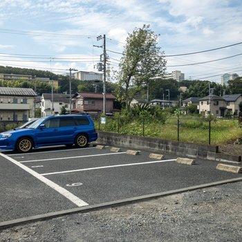 敷地内に駐車場も。