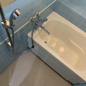 バスタブと水栓は新品の仕様で清潔感有り