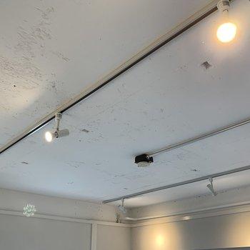天井にはライティングレールが