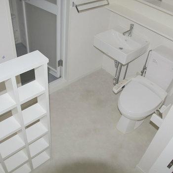 水回りスペース、あれ!? ※写真は2階の反転間取り別部屋のものです。