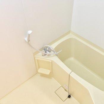 バスルームはちょい渋。※写真は2階の同間取り別部屋のものです