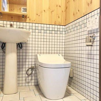 トイレはウォッシュレット付きですよ〜。