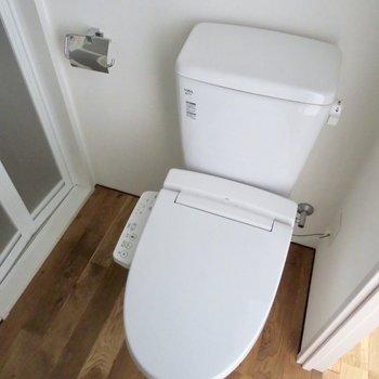 温水洗浄便座で使いやすい◎※写真は通電前のものです