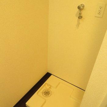 その後ろには洗濯機置き場です