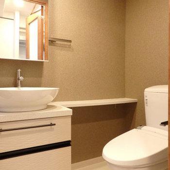 水回り、ホテル並のラグジュアリー感※写真は同間取り別部屋のものです。