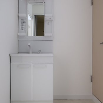 洗面はちょっと小さめかな