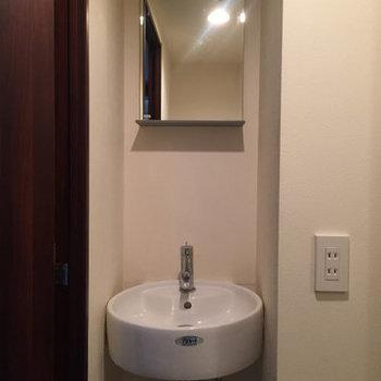 手を洗うだけですね。※写真は4階の同間取り別部屋のものです