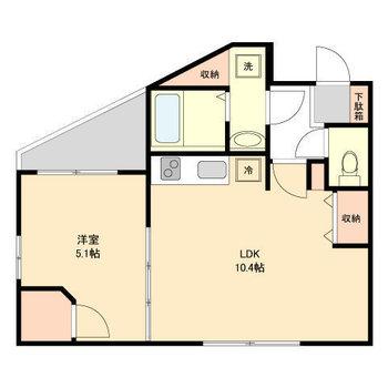 寝室と食事スペースが、分けられるのが良いですね