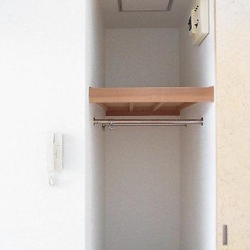 収納はここだけなので、少ないかな。※写真は2階の反転間取り別部屋のものです