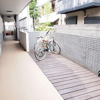 自転車置き場です。※写真は前回募集時のものです。