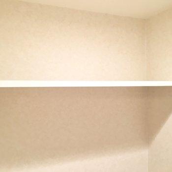 ペーパーのストックはこの棚に。(※写真は5階の同間取り別部屋のものです)
