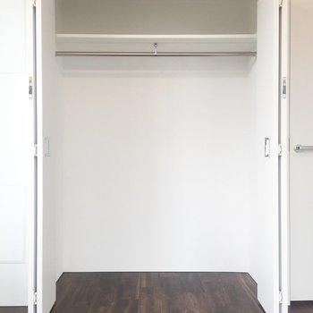広々収納スペース!お洋服がたくさんしまえて嬉しいです。※写真は4階の同間取り別部屋のものです