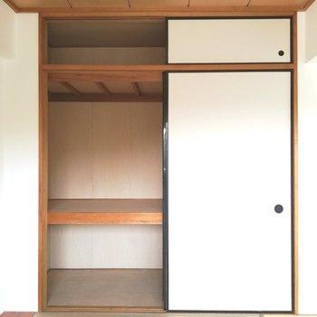 押入れには布団がたくさん入りますね※写真は5階の同間取り別部屋のものです