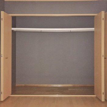 クローゼットがとっても大きい!洋室にもあるので整理整頓できますね。