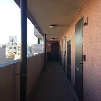 お部屋の前の廊下です