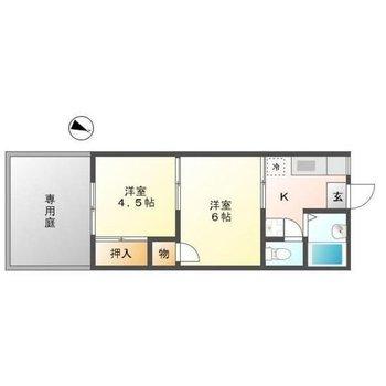 コンパクトな2Kのお部屋。