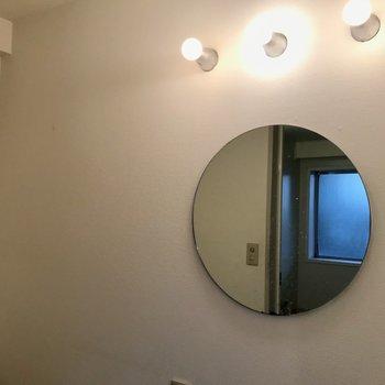 まんまる鏡 ※写真はクリーニング前のものです。