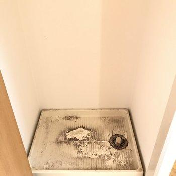 洗濯機でした!扉で生活感が隠せます ※写真はクリーニング前のものです。