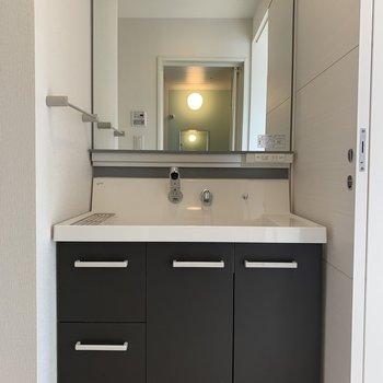 立派な独立洗面台があります。
