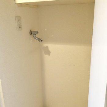 洗濯機は隠せますよ〜!※写真は6階の同間取り別部屋のものです