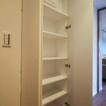 廊下にもクローゼットが。※写真は3階の同間取り別部屋のものです