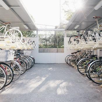 駐輪場、整然と使われていました。