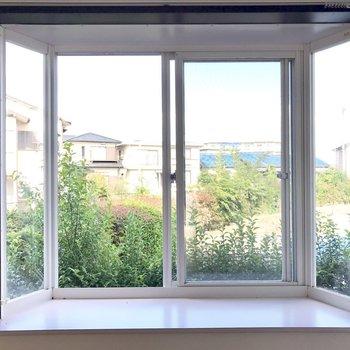 キッチンのところの出窓が素敵すぎる♡※写真は1階の同間取り別部屋のものです。