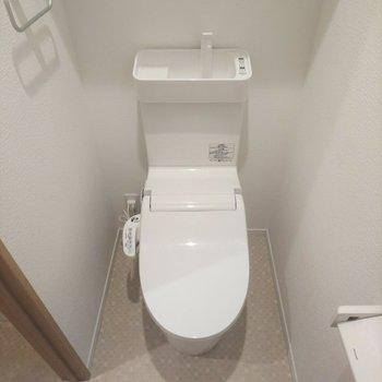 トイレはウォシュレット付き!※写真はクリーニング前のものです