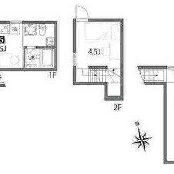3階建ての立体的なお部屋。