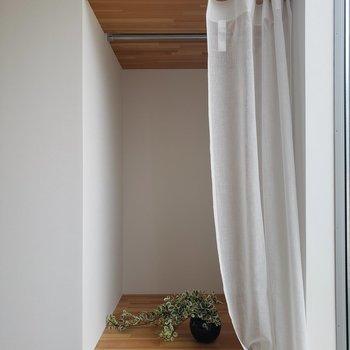 2階にも収納あります。本棚にしようかな。※家具はサンプルです。