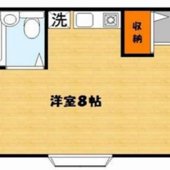 広く使えるワンルームのお部屋です。