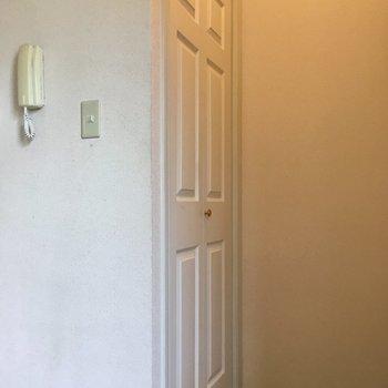 玄関正面にクローゼット兼シューズボックス。