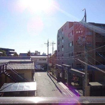 眺望は the 住宅街。