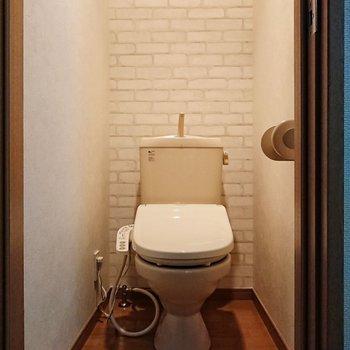 温水洗浄便座付きのトイレがGOOD。