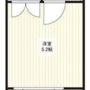 縦に2つのお部屋が並んだつくり。