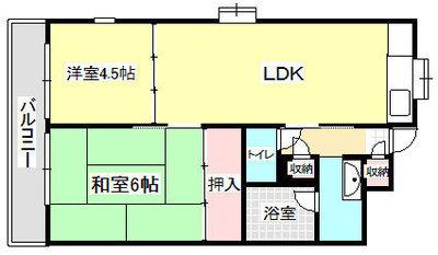 エスタ桜塚A棟 の間取り