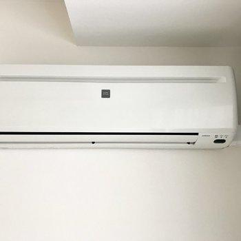 エアコンは冷暖房対応!