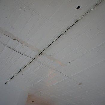 剥き出しの天井+ライティングレール◎