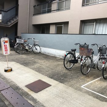 自転車置場もあります。