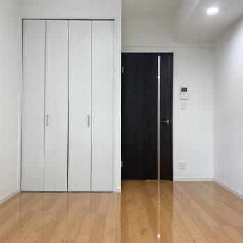 扉が黒なので、空間が締まりますね
