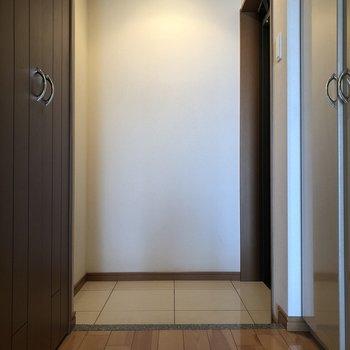 スペースしっかりありますよ。※写真は10階の同間取り別部屋のものです