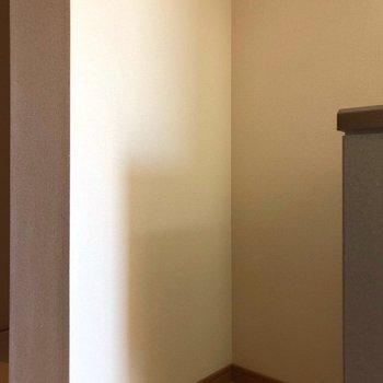 ここに冷蔵庫かな。※写真は10階の同間取り別部屋のものです
