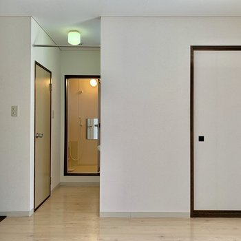 【DK】写真右の扉は和室につながります