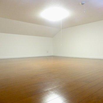 【ロフト】いざロフトへ!広い!でかい!※写真は2階の同間取り別部屋のものです