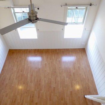 【LDK】ロフトからの爽快な眺め♪吹き抜けだ〜※写真は2階の同間取り別部屋のものです