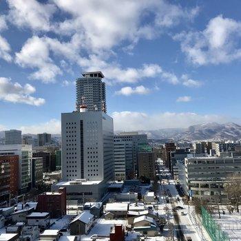 ほらほら、札幌を見渡せる!※眺望は15階のものです