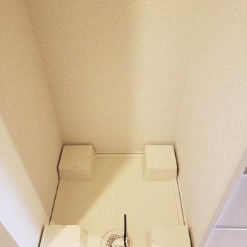 キッチンの左にあるので料理しながら洗濯も。※写真は3階の似た間取り別部屋のものです