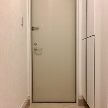 靴箱は玄関左に。靴箱の足元にもさっと靴がしまえます。