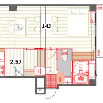 この広いワンルームをどのように活かしましょうか!